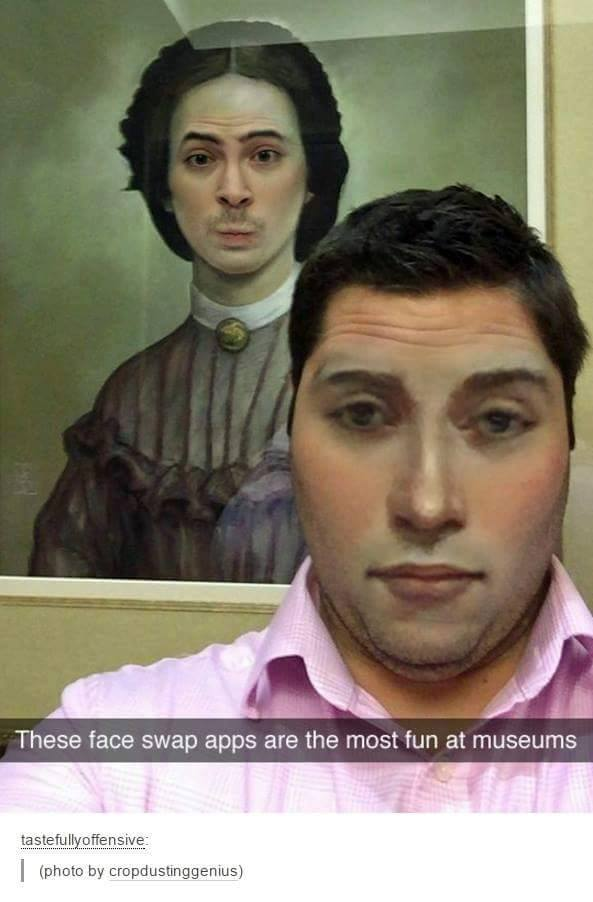 faceswaps at museum