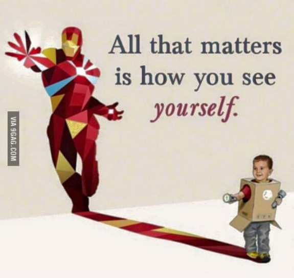 how you see yourself -superhero