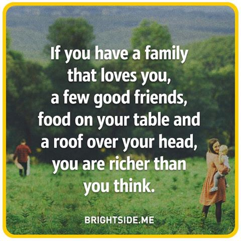 if you have family friends food roof - rich