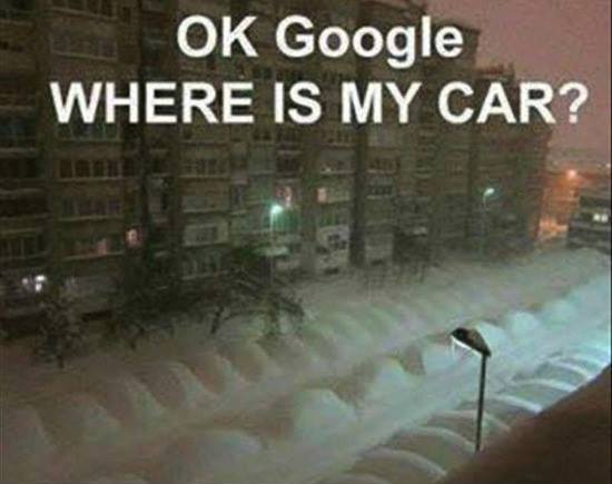 snow - Google - where car