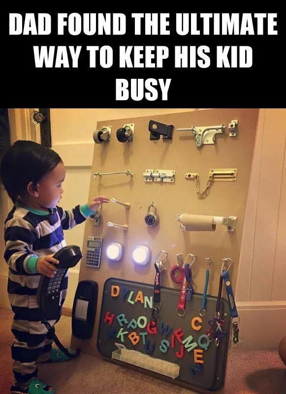 to keep a kid busy