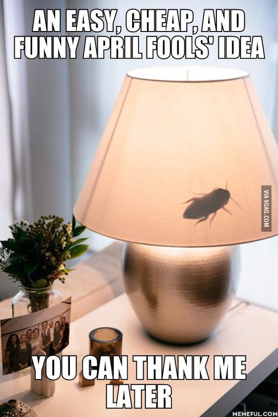april fools fake insect lamp