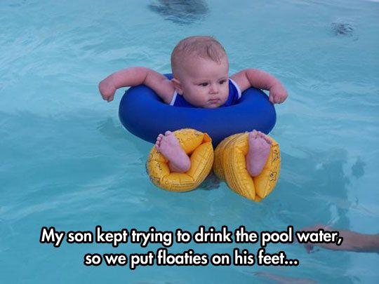 baby floaties pool