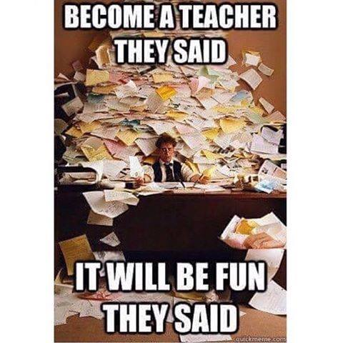 become teacher - paperwork