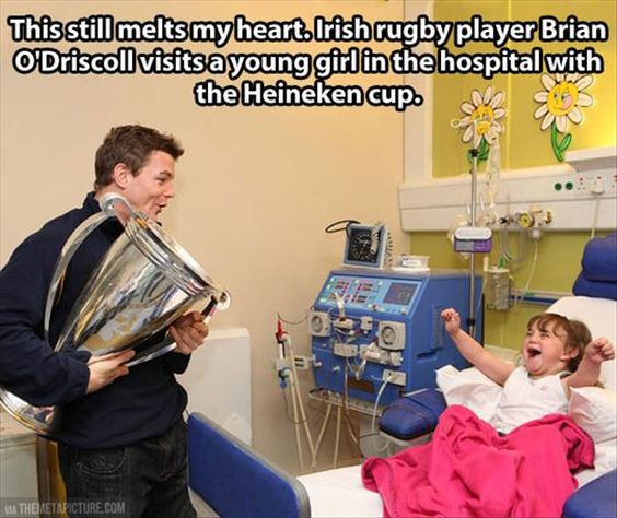 rugby cup hospital child