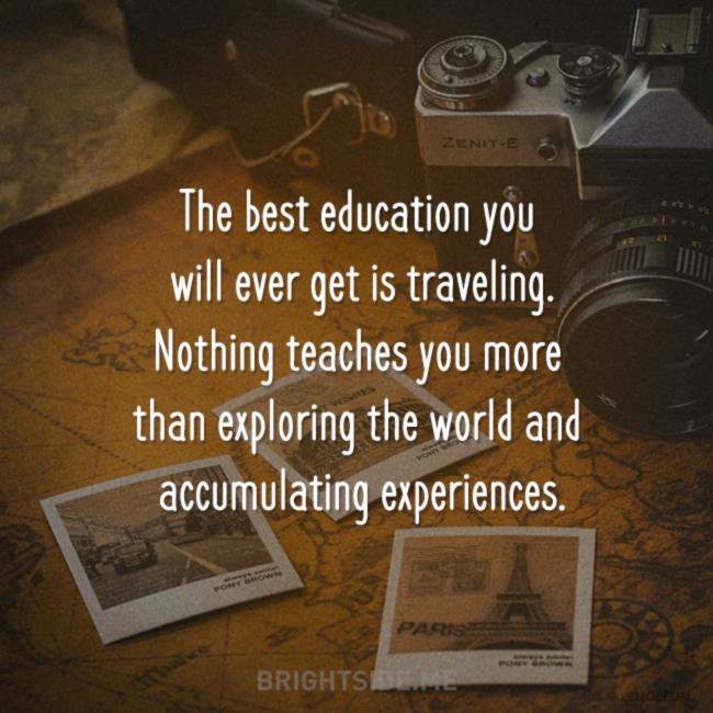 education - traveling