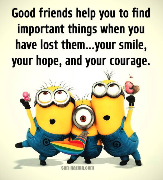 good friends help find - Minions