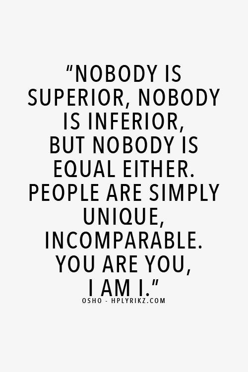 nobody superior inferior equal