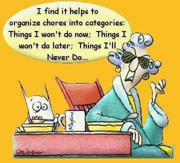 organizing chores