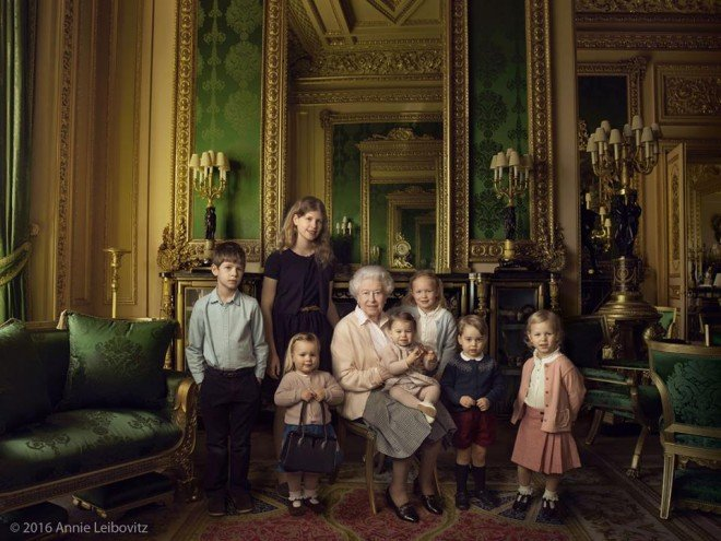 queen 90th birthday great grandchildren