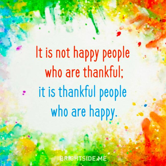 thankful people happy