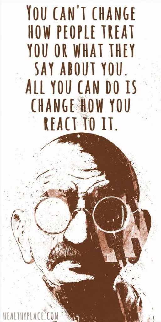 change how react - gandhi