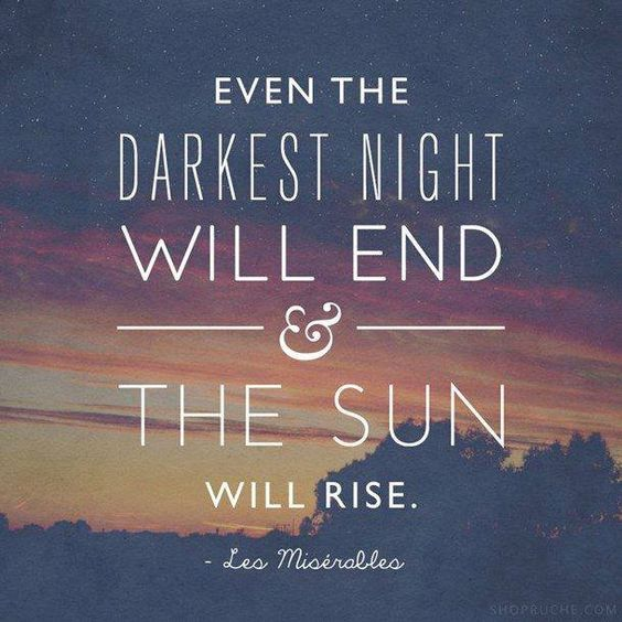 darkest night end - sun rise
