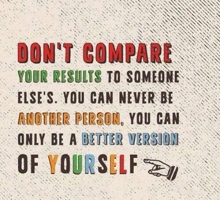 don-t compare your results