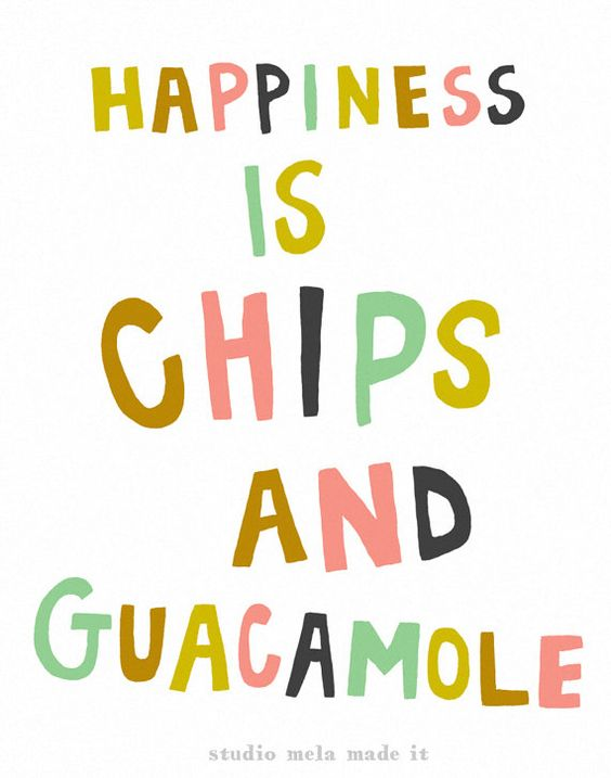 happiness chips guacamole