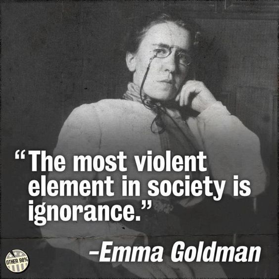 most violent element ignorance