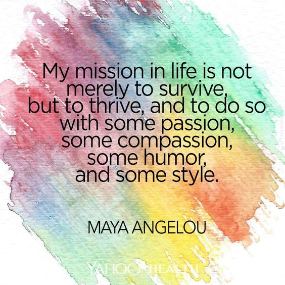 my mission in life - Maya Angelou