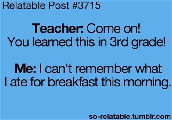 remember 3rd grade - this morning