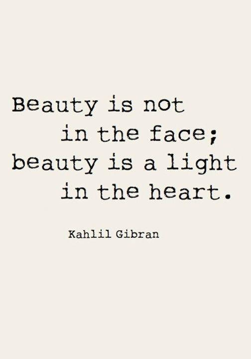 beauty not in face