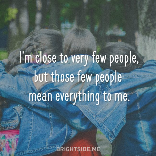 close to very few people