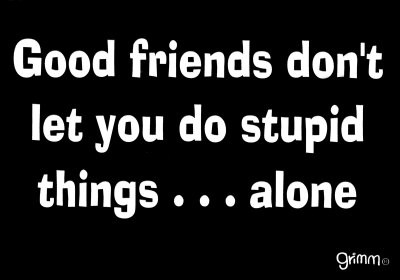 good friends do stupid things