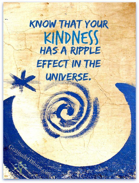 kindness - ripple effect