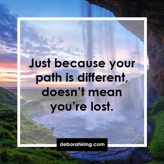 path different - not lost