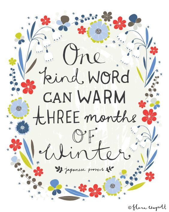 1 kind word - 3 months winter