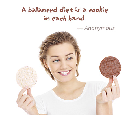balanced diet - cookies