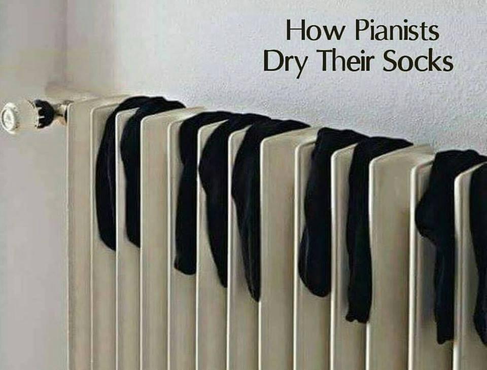 pianist dry socks