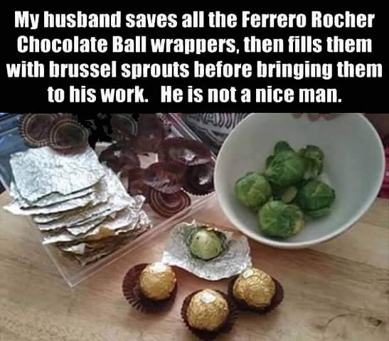 brussels sprouts Ferrero Rochers