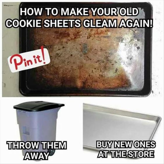 how to clean cookie sheet