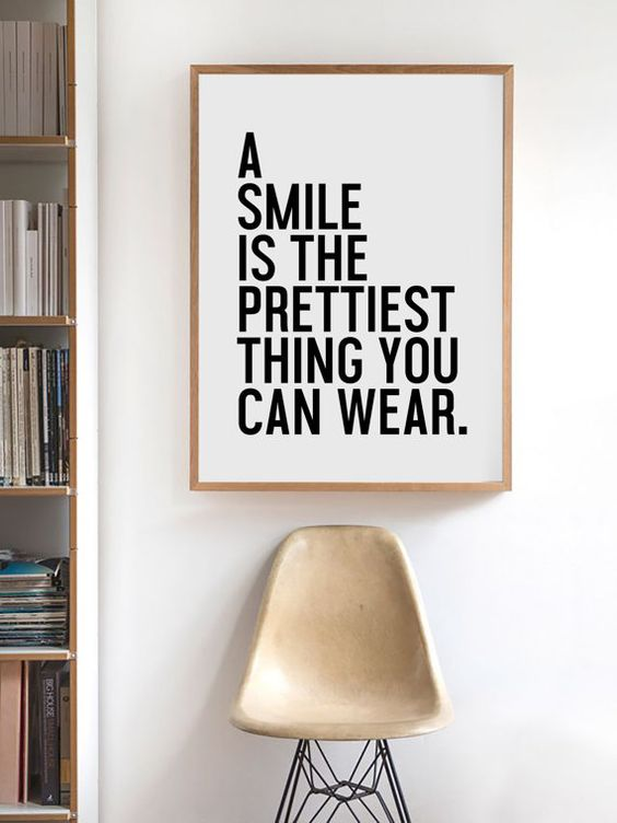 smile prettiest thing to wear