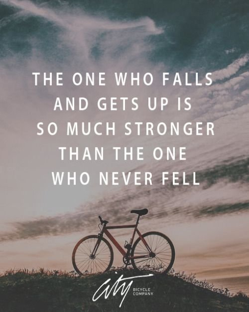 the one who fell is stronger