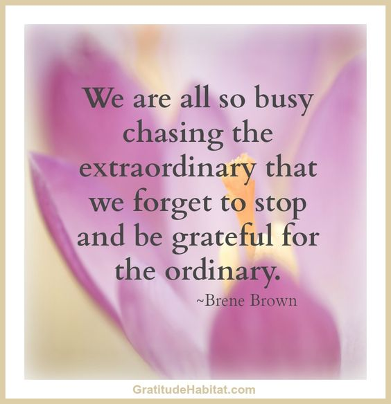 too busy chasing extraordinary