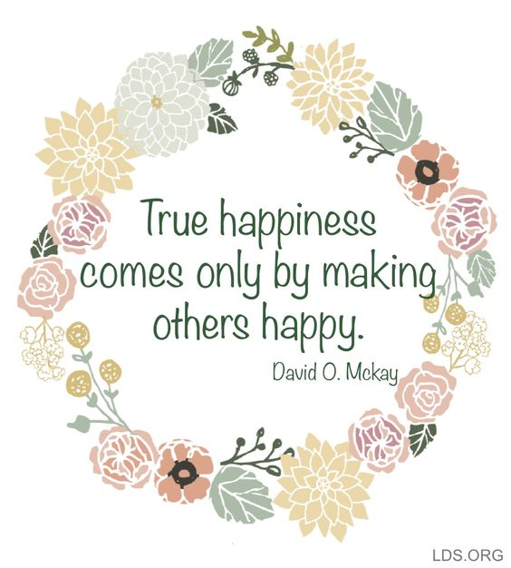 true happiness - making others happy
