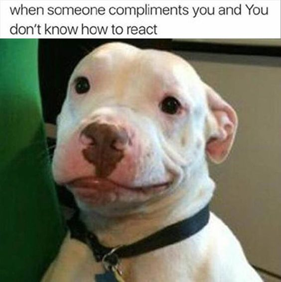 when someone compliments you