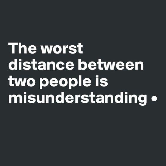 worst distance missunderstanding