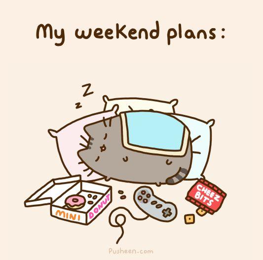 weekend-plans-pusheen