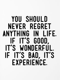 you-should-never-regret-anything
