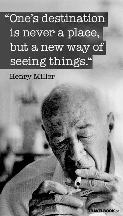 Wednesday Henry Miller Blogging >> Mmg S English Blog At Pmcurie One S Destination By Henry Miller
